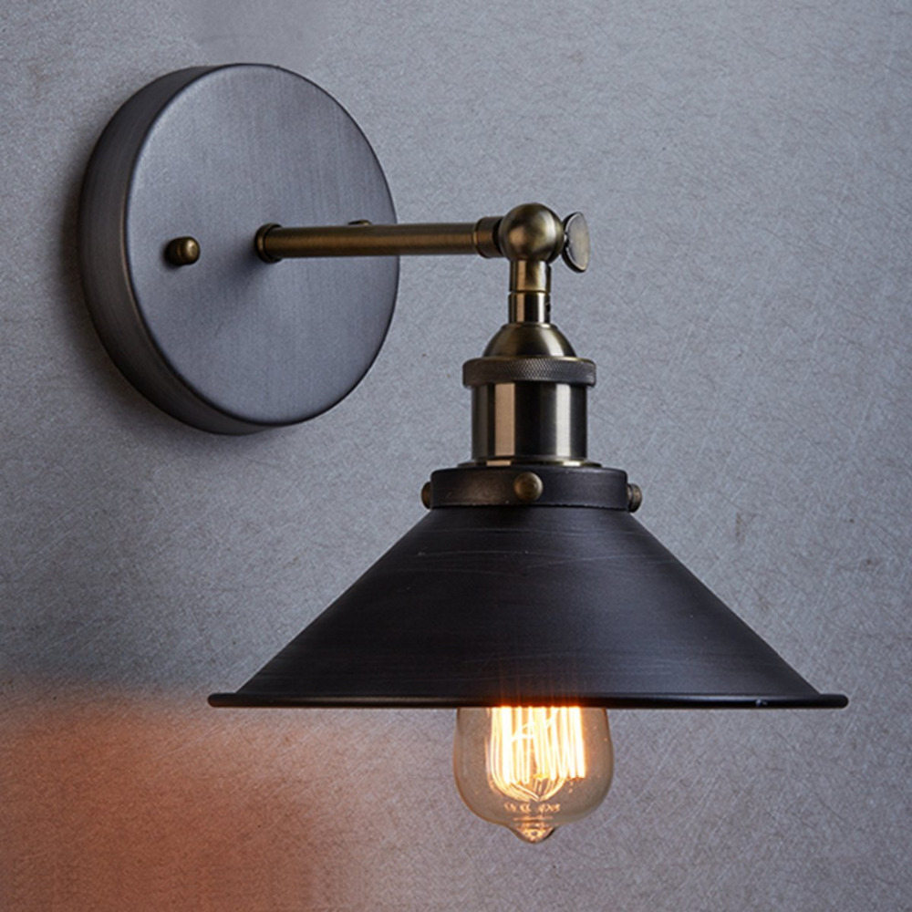 Modern Vintage Loft Adjustable Metal Wall Light retro brass wall lamp country style Sconce Lamp ...