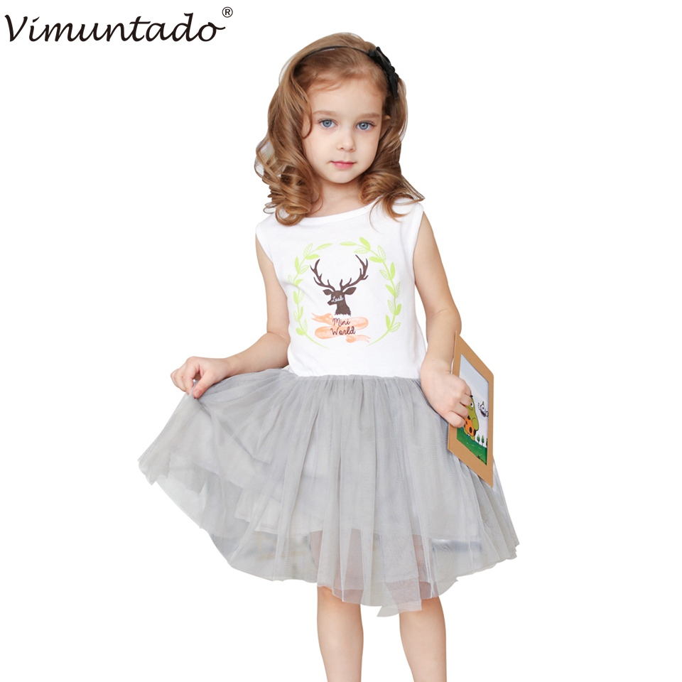 New Girls Dresses Summer 2016 Children Clothing Brand Fashion Buck Tutu Dresses for Girls Princess Party Wedding Toddler(China (Mainland))