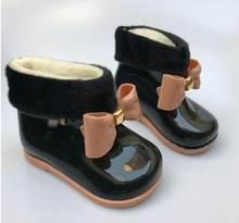 Bebek Kız yağmur çizmeleri Bebek çocuk yağmur çizmeleri Sıcak Güzellik Yay Rainboots Moda kauçuk ayakkabı Yürümeye Başlayan Çocuklar Jöle ayakkabı(China)