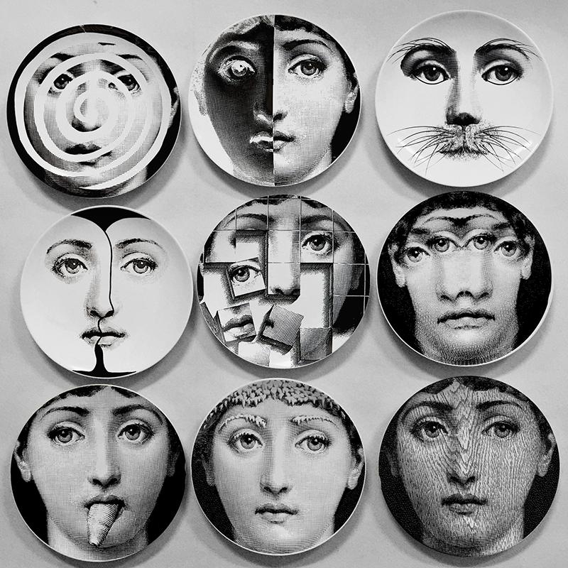 D coratif mur plaques pour accrocher achetez des lots petit prix d coratif mur plaques pour - Fornasetti faces wallpaper ...