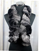 New Arrival Fashion thick Cozy Faux Fur Rabbit hair cony Wool Winter Winkle Wraps Hairy Scarves for Women from Orignal Factory