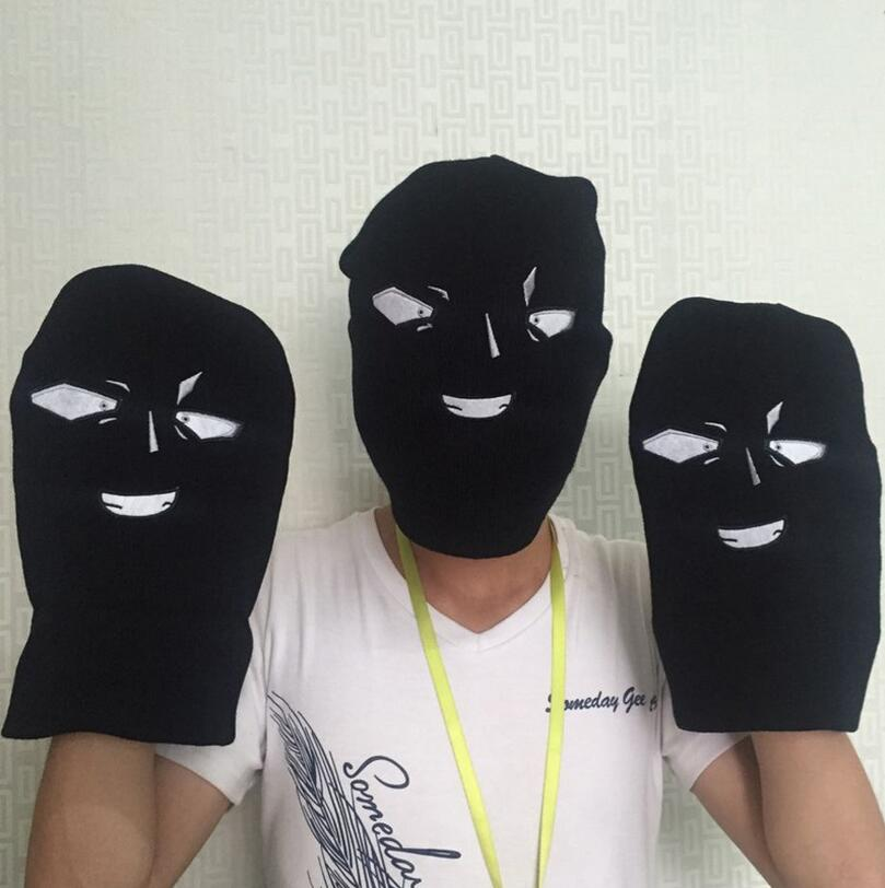 2016 New Full Face Cover Ski Mask Face Shape Balaclava Knit Hat Winter Stretch Snow mask Beanie Hat Cap 2016 Fashion(China (Mainland))