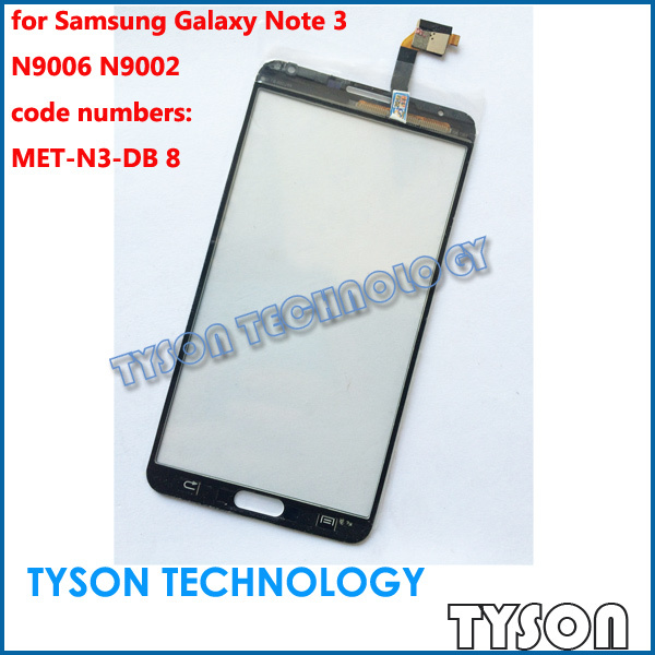 MET-N3-DB 8 Touchscreen for Samsung Galaxy Note 3 Fake Copy Clone Touch Screen Glass Panel Replacements Free Shipping(China (Mainland))