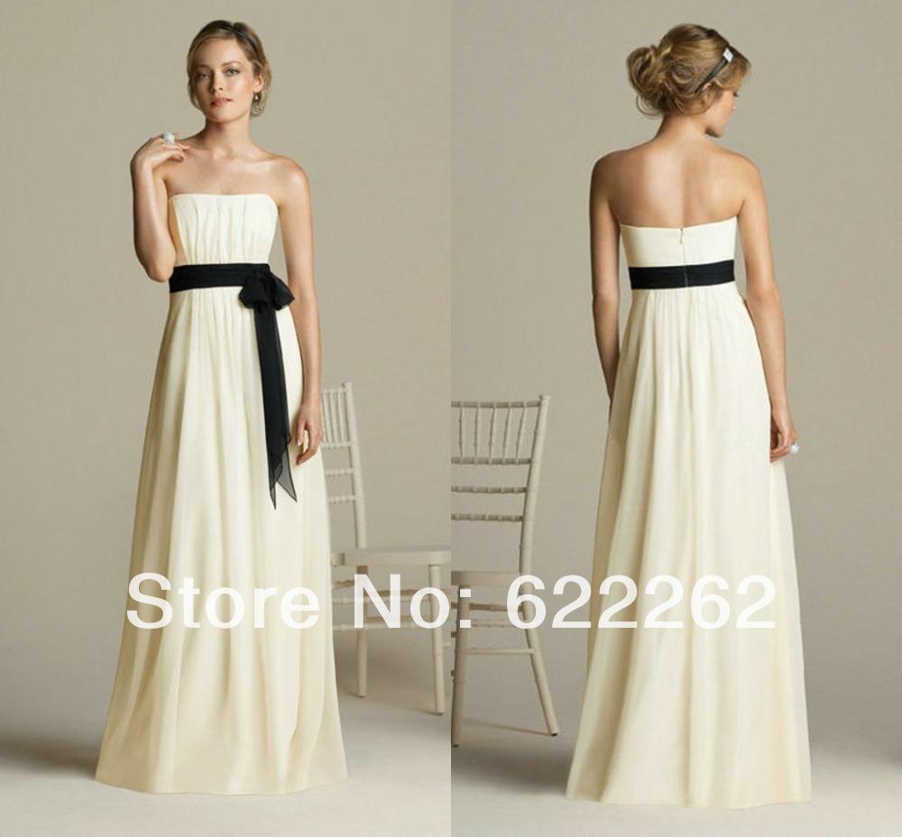 Black And Ivory Bridesmaid Dresses - Flower Girl Dresses