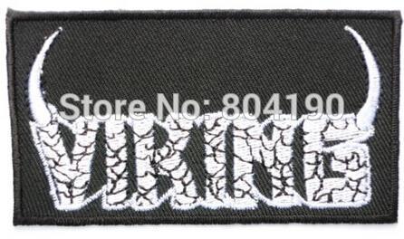 VIKING Logo Thor Loki Odin Skins Music Band Iron On/Sew On Patch Tshirt TRANSFER MOTIF APPLIQUE Rock Punk Badge Free shipping(China (Mainland))