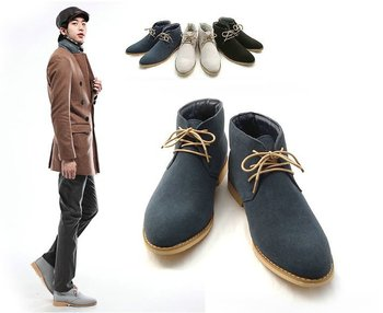 New Spring style fashion boots men business casual shoes leather men's shoes snow boots Three-color can choose[JUUYEE]