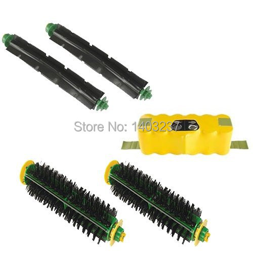 Vacuum Cleaner Accessory Kit For iRobot Roomba 500 Series Accessory Kit - Includes: Battery Beater Brush Bristle Brush(China (Mainland))