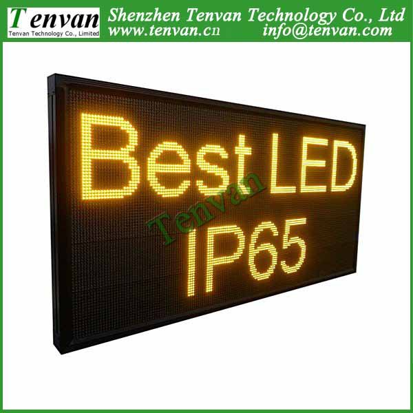Free shipping led screen panel advertising with yellow color, high brightness and size 168cm(W)*88cm(H)(China (Mainland))