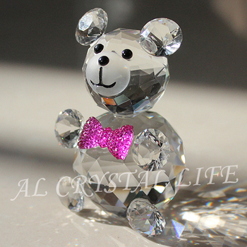 best k9 crystal bear for baby shower favor gift and wedding gift - Free shipping