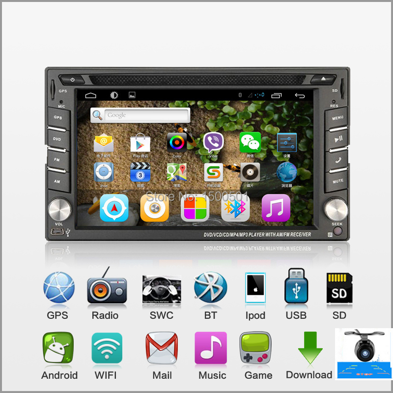 Dual Core 2GHZ Two Din 6.2 Inch Android 4.2 Universal Car DVD Player With Wifi 3G Host GPS BT IPOD Mirror Link Radio Free Map(China (Mainland))