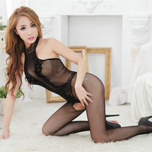wholesale hot sexy women lingerie underwear Opaque bodystocking open crotch tights silkly full body stocking sexy bodysuit