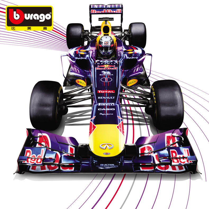Free Shipping 1:32 Burago Diecast Red Bull Team Metal Model F1 Car Toys Fans Collection Decoration Vehicle Model Vettel Webber(China (Mainland))