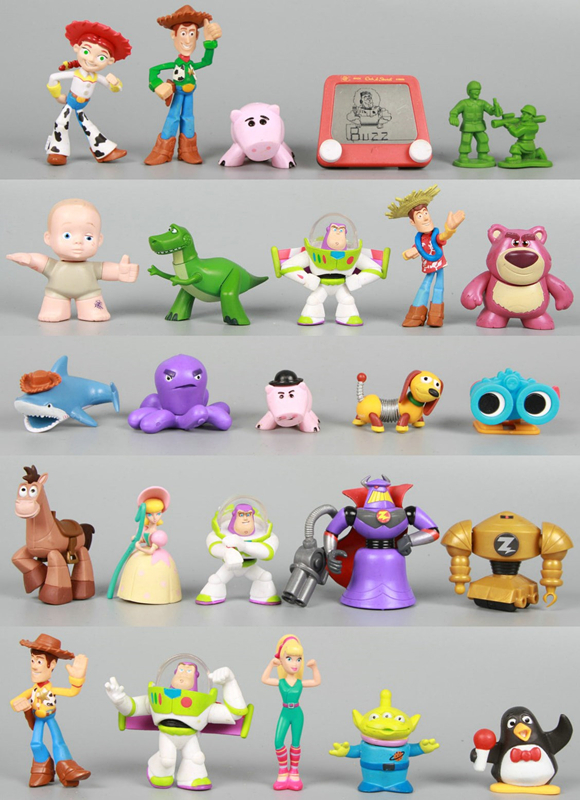 20pcs Random Toy Story 20th Anniversary Andy's Room Buddies woody loose figures Gift Set(China (Mainland))