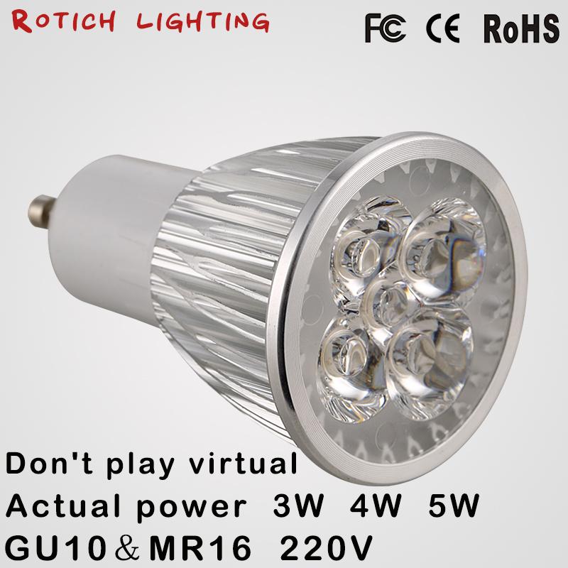 Super bright spotlight LED Lamp LED Spotlight 3W 4W 5W Bombillas High quality GU10 Spot light Lampada LED Bulb 110V 220V(China (Mainland))