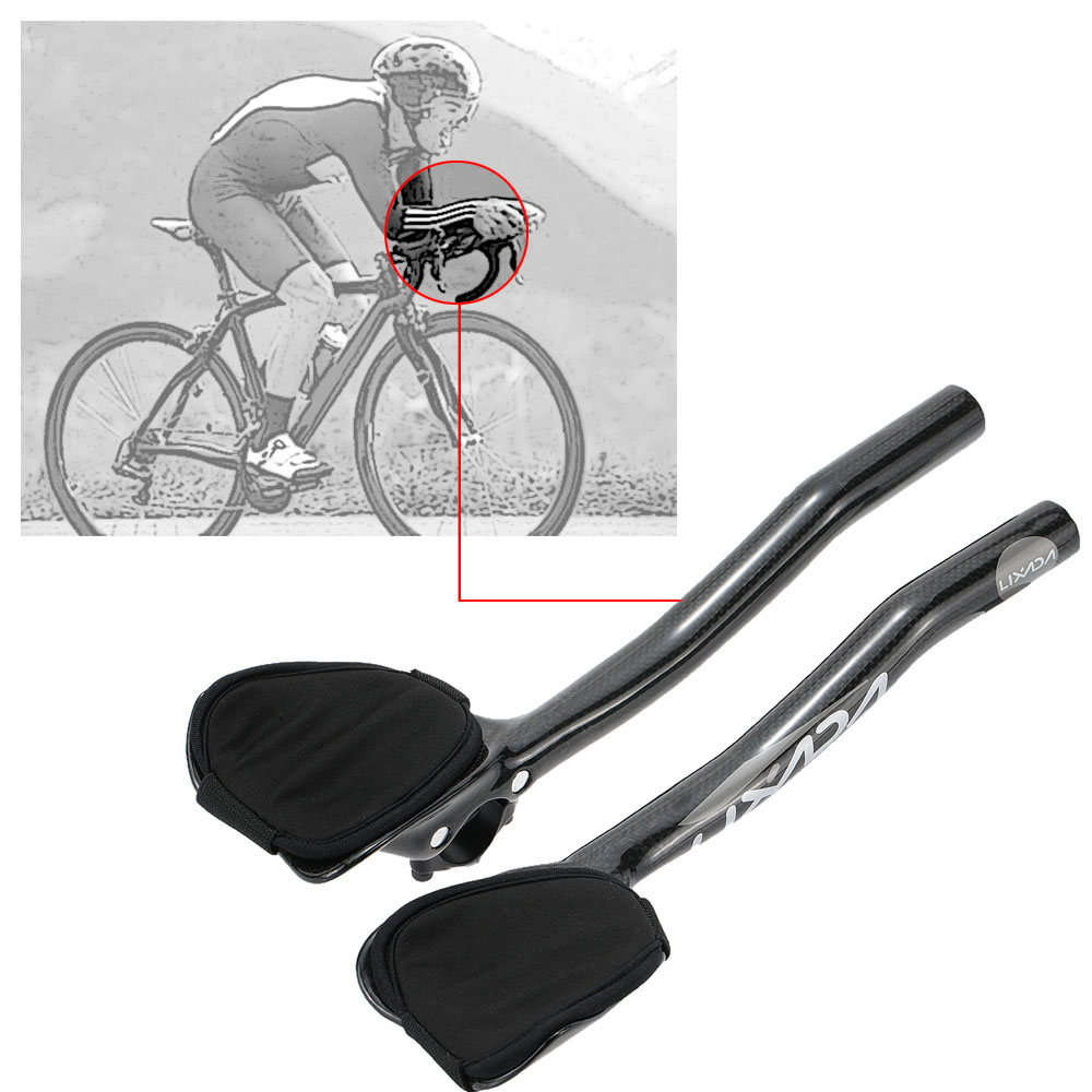 TS carbon Mountain road bicycle Rest handlebar TT Rest bar Aerobar 31.8mm 1pair