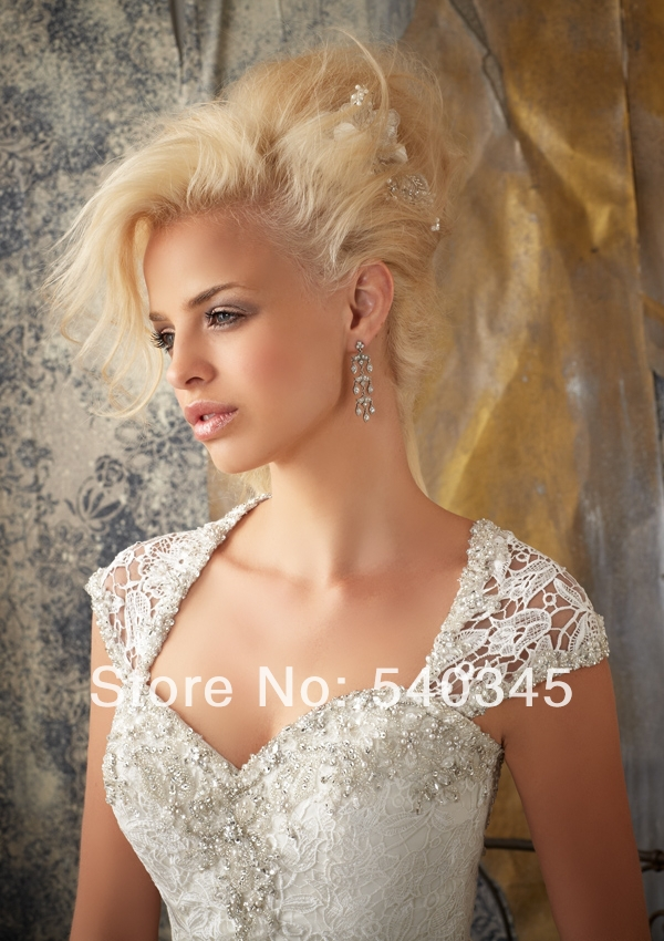 New Lace Appliques Wedding Dresses With Jacket 2016 Mermaid Sweetheart Sequined Beading Sexy Backless Button Bridal Gowns(China (Mainland))