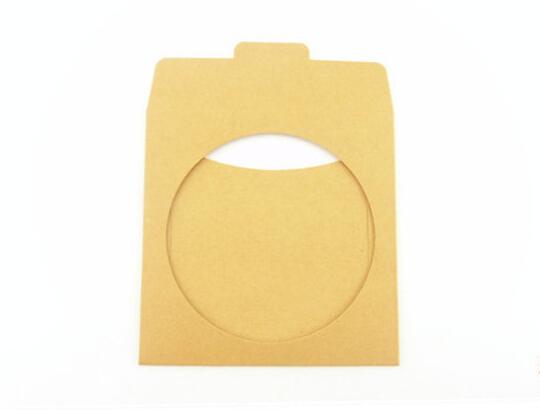 Size 12.5*12.5cm Kraft cd box , kraft DIY cd dvd case, window wedding dvd cd envelope(China (Mainland))