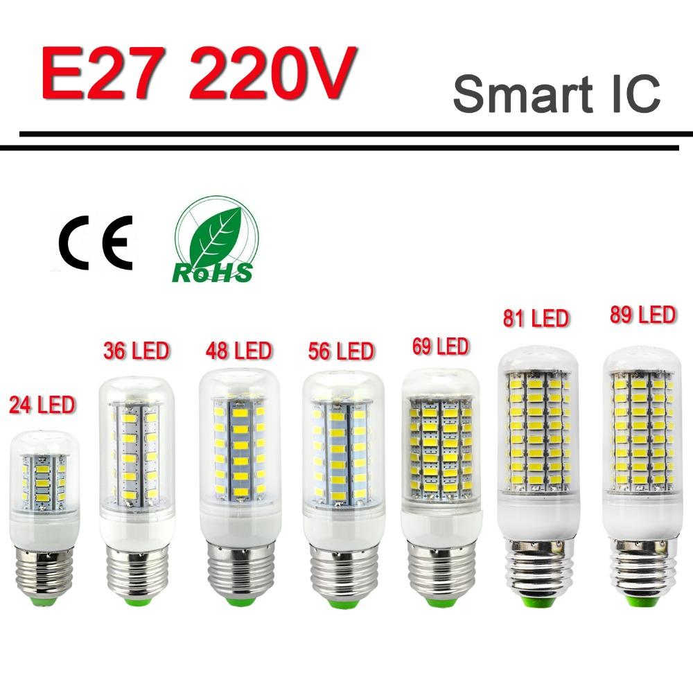 Energy Saving LED Lamp E27 220V LED Light 5W 9W 12W 15W 20W 25W 30W Lampada LED Bulb Christmas Chandelier Lights High Bright(China (Mainland))