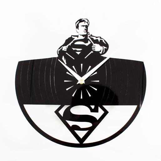Classic movie hero superman wall clock Watch fashion ideas Superman logo(China (Mainland))