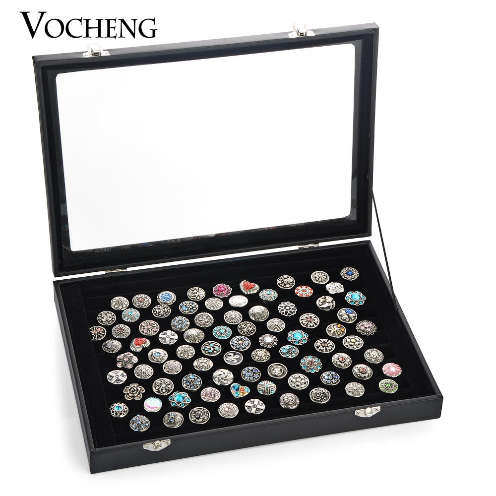 Vocheng 2 Colors Exhibition Box Linen&PU Jewelry Display Stand for Ginger Snap NN-432 Free Shipping(China (Mainland))