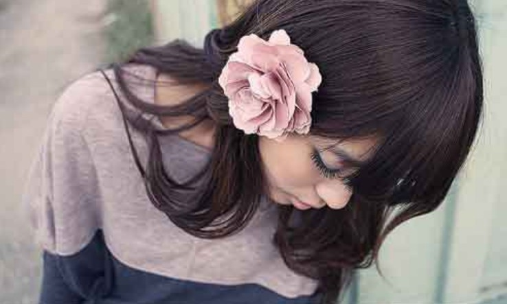 New 2015 New Fashion Woman Lady Peony Flower Hair Clip Hairpin Brooch Accessories(China (Mainland))