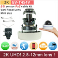 2 8 12mm H 265 UHD 4 720P 2K IP camera outdoor mini dome with poe