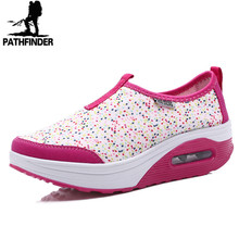 2016 Summer Platform Shoes Women Causal Fashion Walking Shoes Height Increasing Women Loafers Breathable Mesh Swing Wedges Shoes