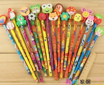 Free shipping Cartoon animals eraser pencil,educational toy,learning stationery,study/school appliance,creative stationery