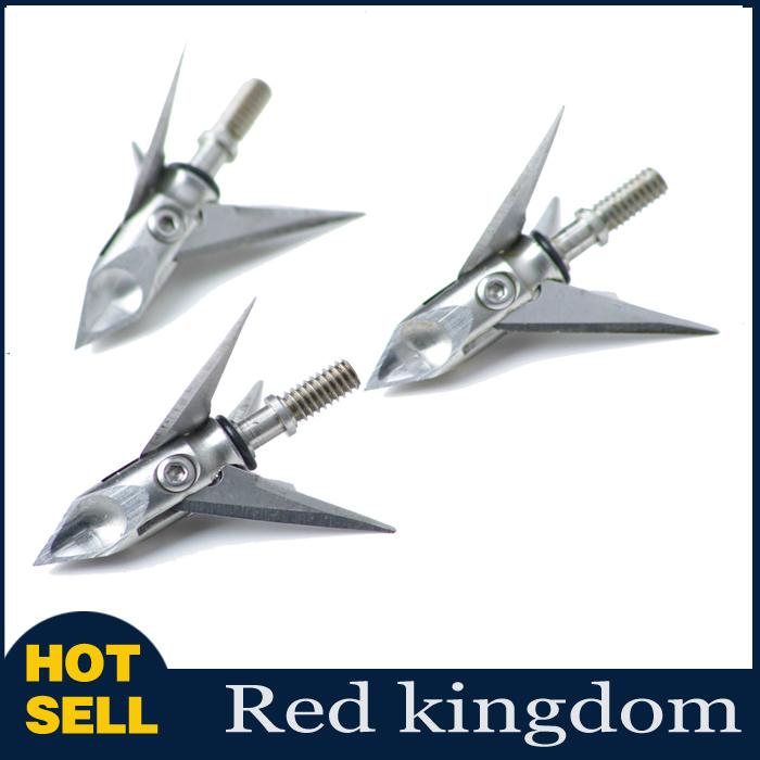 3pcs 100 Grain 3-Blades Stainless steel Cat Archery Arrow hunter ArrowHeads Broadheads For Sale
