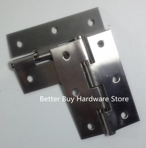 """10pcs Length 2.5"""" Thickness 1.2mm Silver Tone Stainless Steel Cabinet Door Butt Hinges(China (Mainland))"""