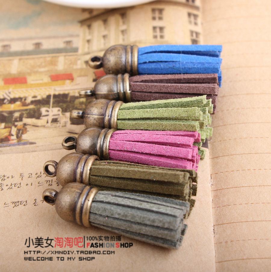 DIY Jewelry Accessories bronze colored suede cord tassel Korea fleece tassel (short) bis(China (Mainland))