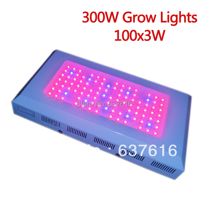 hot sale 300w led grow light 100 3w red blue emitting color plant