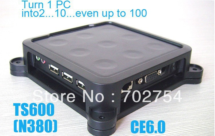 TS660/N380 Win CE 6.0 Thin Client Net Computer Mini PC Share Sharing Station Network Terminal, Free Shipping(China (Mainland))