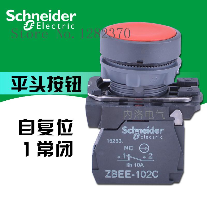 [ZOB] Genuine original button switch 22mm XB5-AA42C plastic flat head self-resetting 1 NC Red  --20pcs/lot<br>