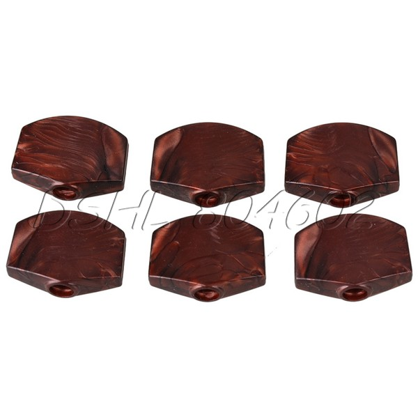 6pcs Guitar Tuner Machine Head Buttons Red Pearl Tuning Key Square Buttons(China (Mainland))
