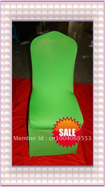 Free shipping -Top quality lime green  spandex chair cover/lycra chair cover