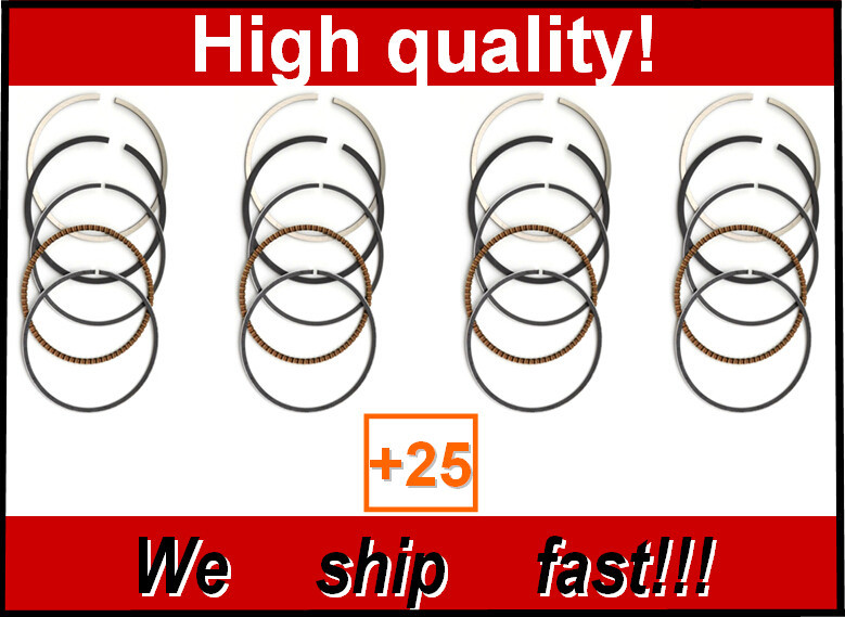 4pcs 100% NEW High Quality Over size bore +25 56.25mm Piston Rings for YAMAHA FZ400 4YR FZ 400 PISTON RING(China (Mainland))