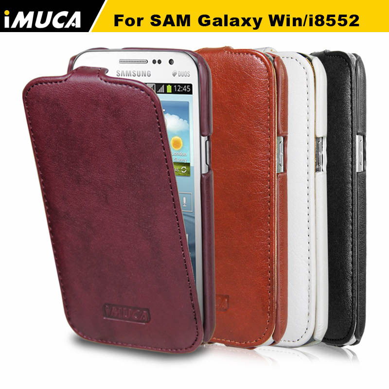 IMUCA Flip Leather Case For Samsung Galaxy Win i8552 GT i8552 Cover for Samsung Win Mobile