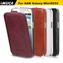 High Quality Mobile Phone Leather Case for Samsung Galaxy Win I8552 Flap Cover Free Shipping