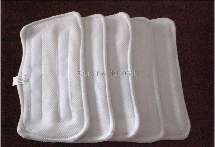 Steam Mop pads 10pcs/lot Microfibre Floor Washable Replacement Pads for H2O H20 X5 Free shipping(China (Mainland))
