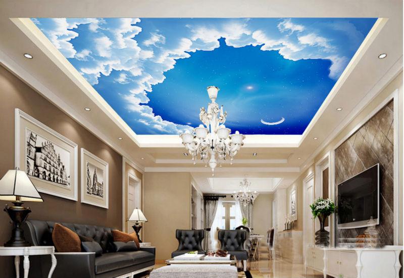 Wallpapers wallpaper papel de parede para sala dream sky for 3d roof wallpaper