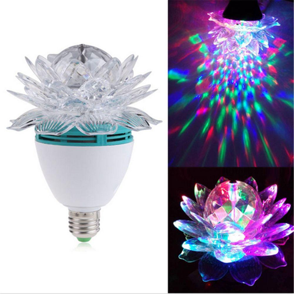 Fashion Crystal Magic Ball Stage Light Led E27 RGB Rotating Lamp for Party Disco DJ Lamp Light(China (Mainland))