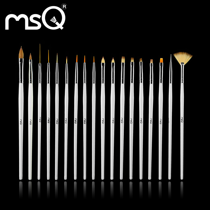 MSQ Professional Fashion 18pcs/set Simple Cosmetic Nail Art Brush Set Top Quality Sable Hair Nail Brush Free Shipping<br><br>Aliexpress