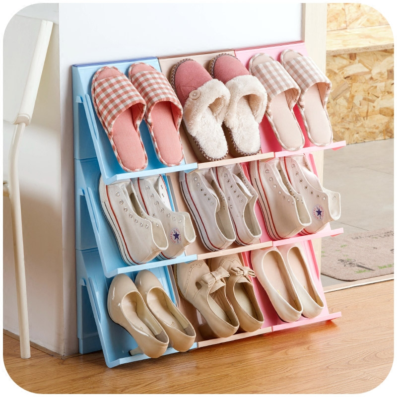 Multifunction Storage Rack Book Shelves Superposition Shoe Magazine Holder Hang in Wall&Floor Type Installation Room Organizer(China (Mainland))