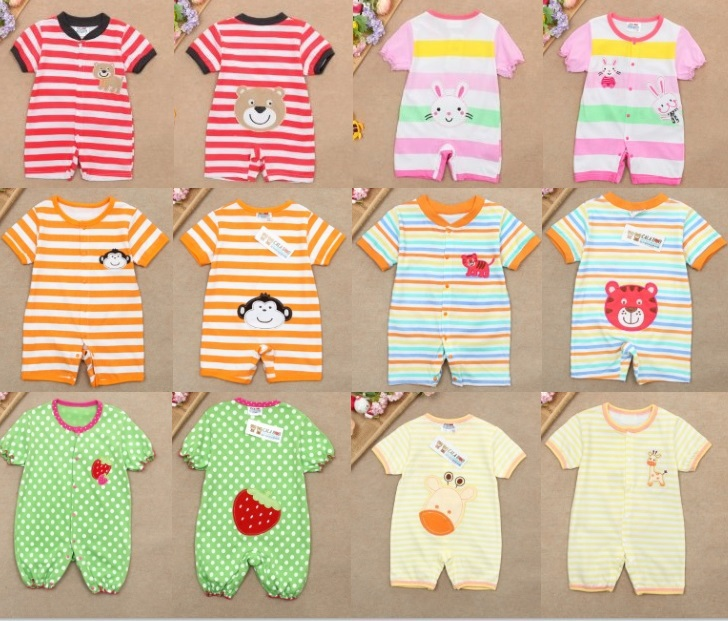 animal baby shortalls bodysuits new born overalls baby rompers toddler jumpsuits cotton babywear tops baby clothes tights L190(China (Mainland))