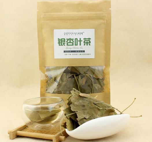 Free shipping.20g Wild Ginkgo biloba tea Lower blood lipids. Protect blood vessels .Natural Herbal Tea Aging China Health Tea(China (Mainland))