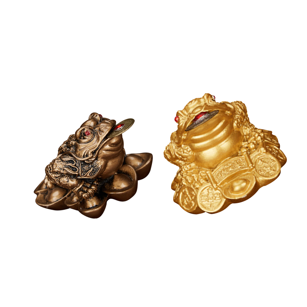 Money Toad Wealth Frog Jin Chan Chu With Coin For Home Car Feng Shui Decor Lucky Praying