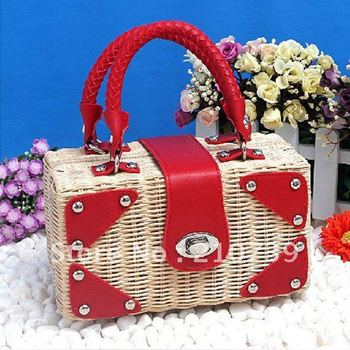 summer style. Free shipping, Straw handbag, Straw bag,Totes Bags summer  bag wholesale and retail Promation!