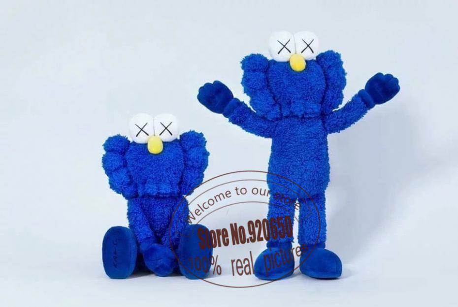"16"" 40cm 2016 Kaws Thailand Bangkok Exhibition Sesame Street Kaws BFF Plush Doll Toy Collections with retail box(China (Mainland))"