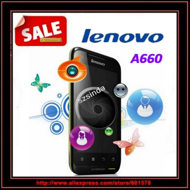 """beiyong---Lenovo A660 Dustproof Waterproof MTK6577 (Dual core) Android 4.0 4GB+512MB 4.0"""" GPS WIFI Russian mobile phone"""